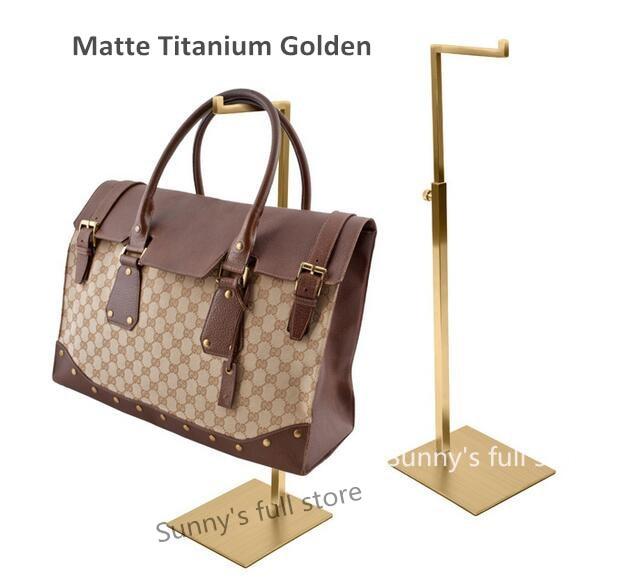 Coat Racks Silver Black Double Hook Women Bag Display Rack Holder Adjustable Wig/silk Scarf/purse/handbag Display Stand Metal Baking Paint