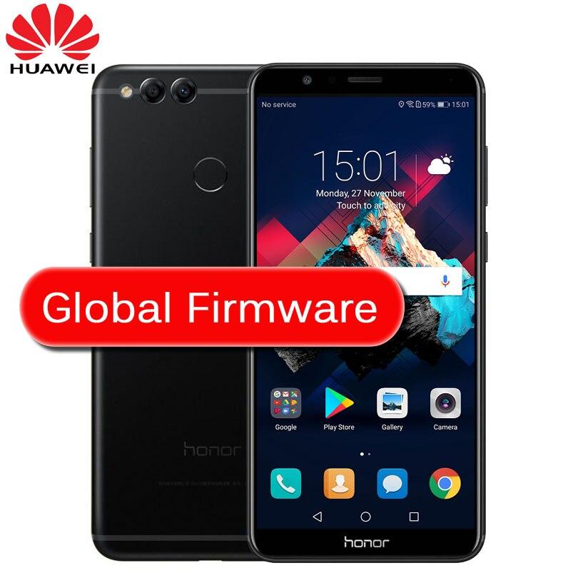 """Global ROM huawei Honor 7X4 ГБ 32 ГБ 5,93 """"полный Экран обновление OTA мобильного телефона Восьмиядерный двойной камеры заднего 3340 мАч 2160*1080 P"""