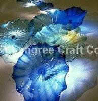 Творческий аквариум и спа Настенный декор Кристалл Sea голубой цвет Мурано Стекло настенные тарелки