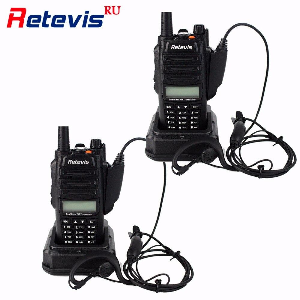 2pcs IP67 Waterproof Anti dust Walkie Talkie 5 3 1W Retevis RT6 128CH VHF UHF FM