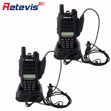 2pcs IP67 Waterproof Anti-dust Walkie Talkie 5/3/1W Retevis RT6 128CH VHF UHF FM Radio VOX SOS Alarm Professional Two Way Radio