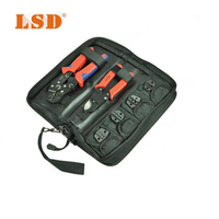 DN K02C multitool kit with crimping tool,cable cutter,replaceable dies set carbon steel wire crimper hand tool set