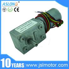 ASLONG long life permanent magnet reverible JGY-2838 12v brushless dc motor with self-locking & internal driver