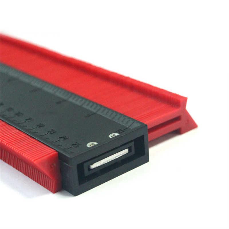 DANIU 250mm תבנית עקמומיות בקנה מידה שליט קונטור-מד רבד שטיח עץ אריח פרופיל למדוד שליט עם מגנט