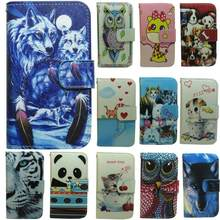 1x OWL Cat Dog Wolf Panda Tiger Wallet Flip case cover for Samsung Galaxy A3 A5 A7 A8 2015 2016 2017 2018 C5 C7(China)