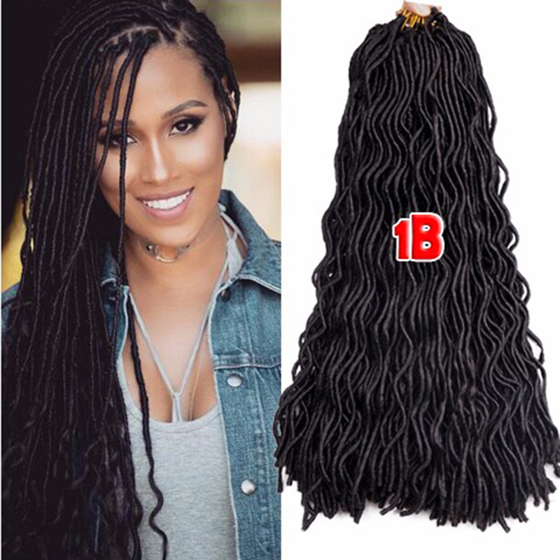 ... Faux Locs Crochet Hair Extensions 24 Crochet Braids Goddess Faux
