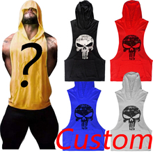 Custom The Punisher T-Shirt Bodybuilding Skull Tshirt Muscle T Shirt Sleeveless Hoodie Tank Tops Vest Gold Black Grey Red White