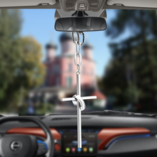 купить Bemost Car pendant Cross Rings Hanging Ornaments Automobiles Rearview Mirror Suspension Decoration  Auto Styling Gifts по цене 252.71 рублей