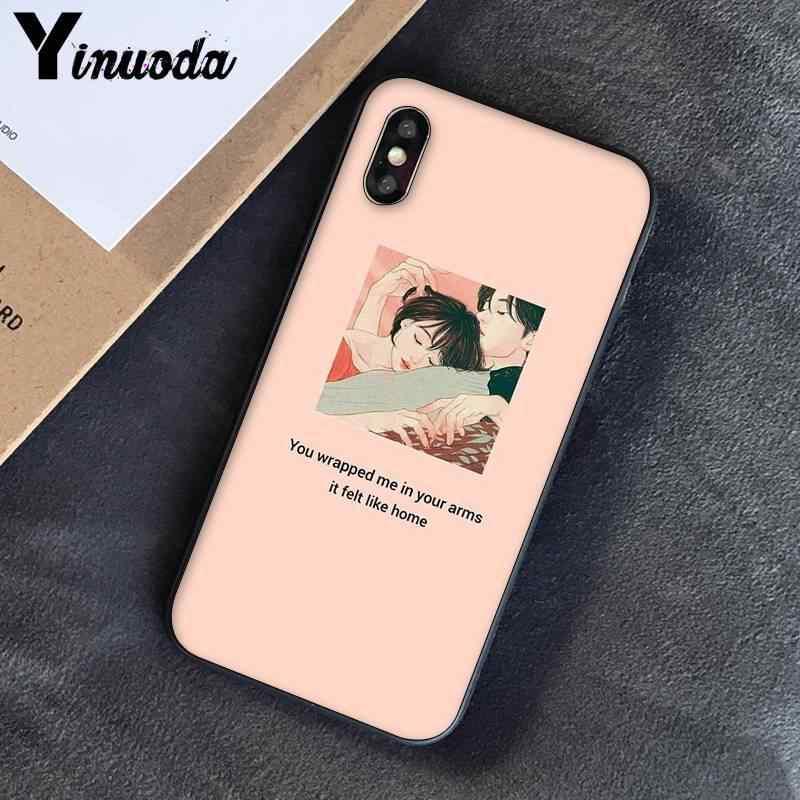 Yinuoda Casal melhor amigo art impressão estética PhoneCover para iPhoneX XSMAX 6 6s 7 7plus 8 8Plus 5 5S SE XR 11 11pro 11promax