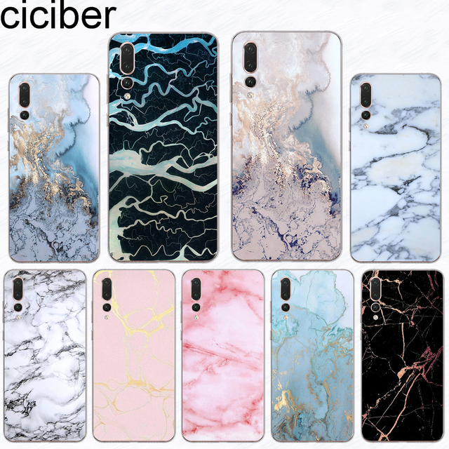 ciciber For Huawei P 20 10 9 8 Lite Pro Plus 2017 Soft Silicone TPU Phone Case For Mate 20 10 9 Lite Pro X Marbling Coque Fundas