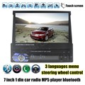 Car FM USB TF Radio stereo MP4 MP5 Player Bluetooth steering wheel control touch screen support rear camera 1 din 7 inch