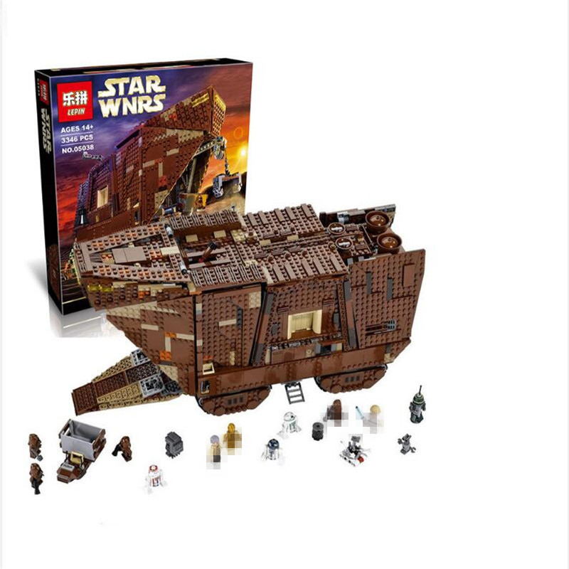 все цены на IN STOCK LEPIN Star Building Bricks Wars 05038 3346Pcs Figure Force Awakens Sand crawler Model Blocks Bricks Toy Gift 75059 онлайн
