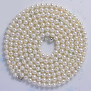 9 10mm freshwater pearl sweater chain light necklace long necklace Mother s girl gift 50inch