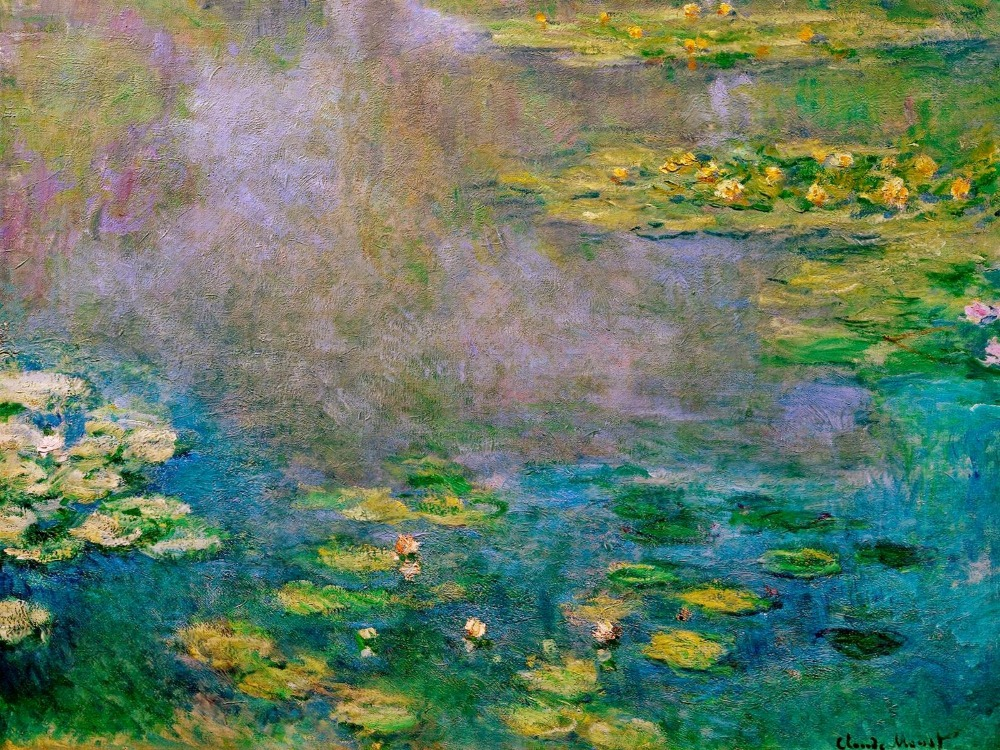 100% handmade landscape oil painting reproduction on linen canvas,water-lilies-11 by claude monet100% handmade landscape oil painting reproduction on linen canvas,water-lilies-11 by claude monet
