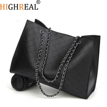 Leather Bags For Women 2019 Luxury Handbags Women Bags Designer Big Tote Hand Bag Chain Leather Handbag Set Bolsa Feminina
