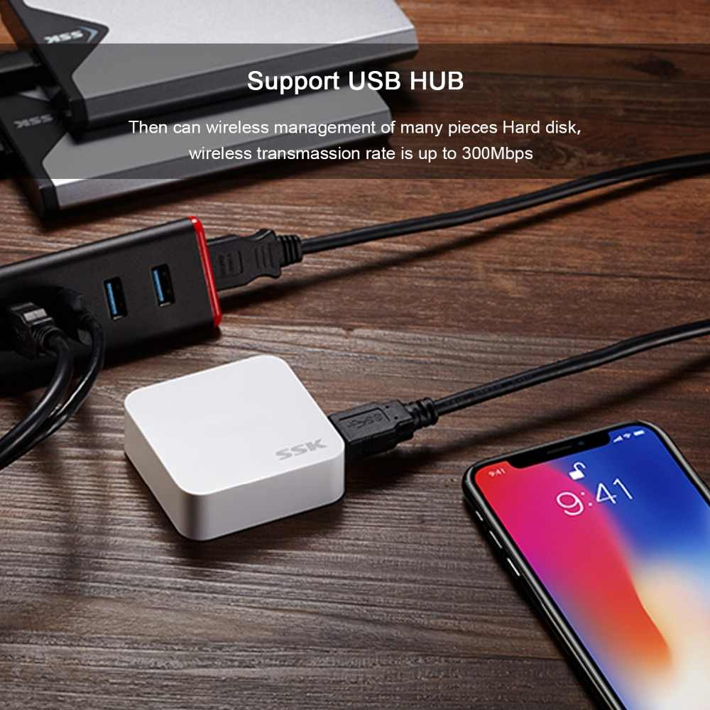 SSK SW001 smart wireless adapter personal cloud storage WiFi External Drive  auto backup change normal storage to personal cloud