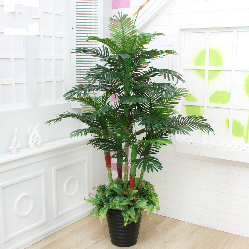 Искусственное растение 180 см в горшках Scutellaria, пальма, украшение для гостиной, пластиковое растение в зелени, искусственная Цветочная поддел