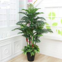 artificial Plant 180cm Potted Scutellaria palm Tree Living Room Decoration Plastic Greenery Plant artificial Flower fake plants