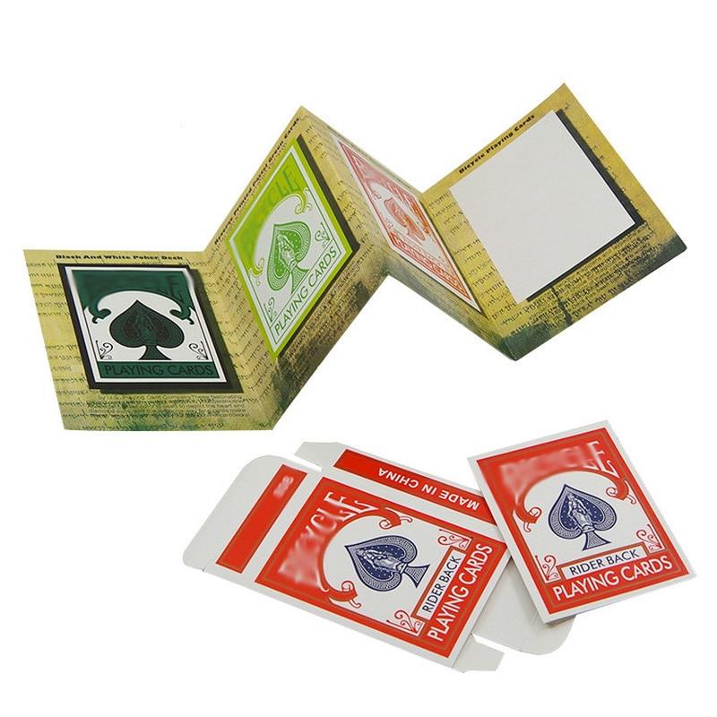 1set 3D Advertising Magic Tricks Card Deck Appearing Magia Magician Close Up Gimmick Props Magic Accessories For Magician