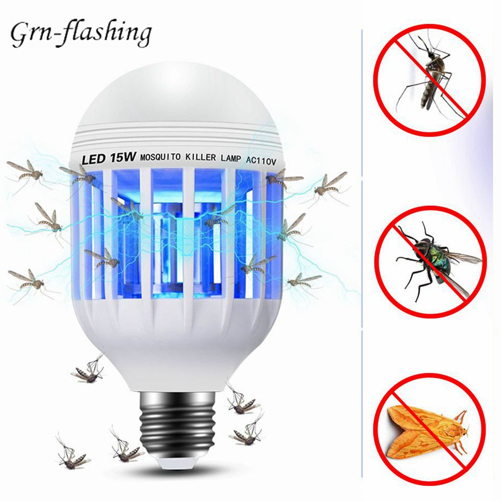 E27 15W LED Mosquito Killer Bulb 110V 220V Home Lighting Lamp Anti Zapper Mosquito Insect Flying Moths Killer Repeller LED Light