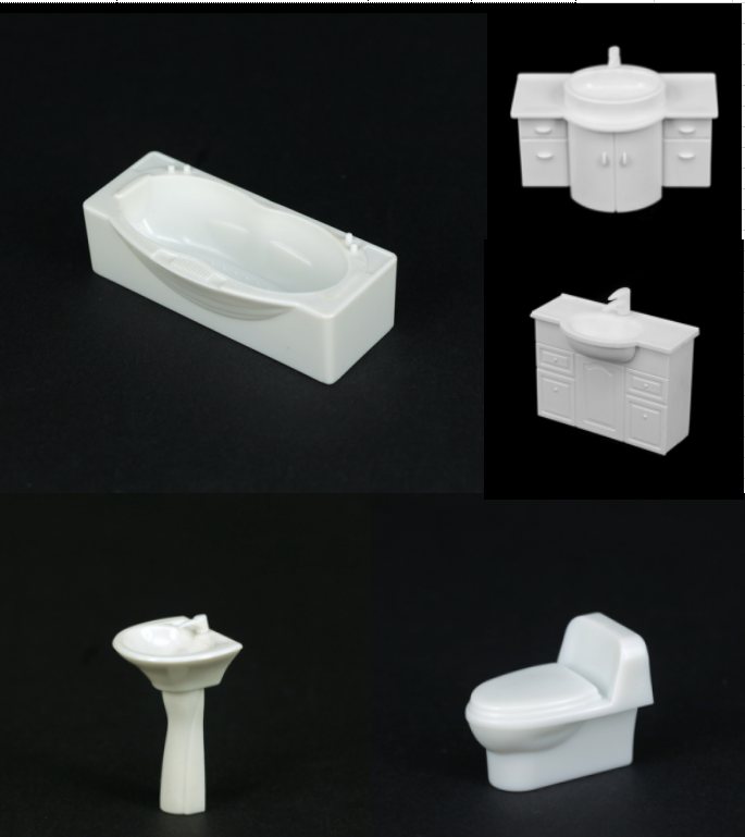 1:50 scale model bathroom furnitures, model bathtube,model sink model Toilet