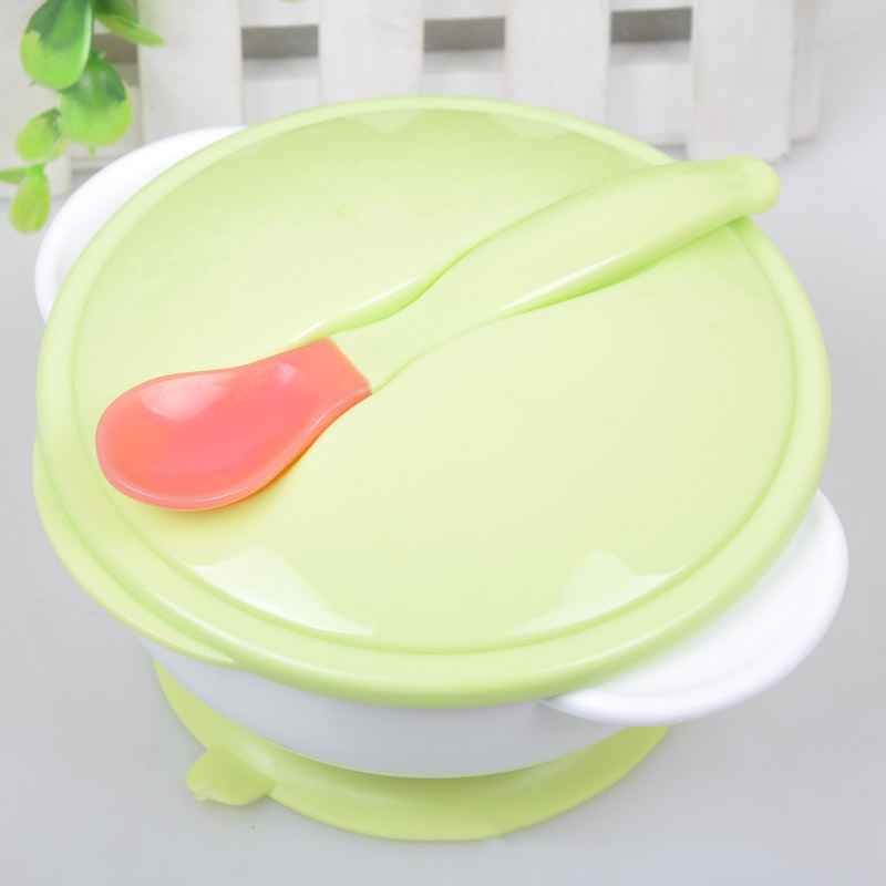 Hot Sale New Baby Food Dinnerware Training Bowl Kids Learning Tableware Baby Feeding Food Dishes Toddler Sucker Bowl Spoon Set