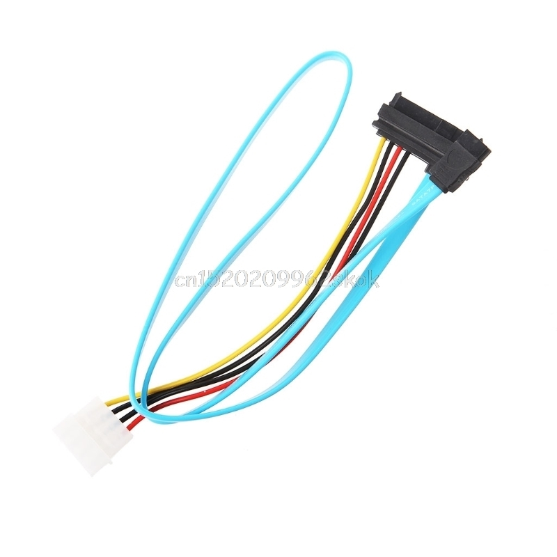 7 Pin SATA Serial Female ATA To SAS 29 Pin & 4 Pin Male Power Adapter Cable #H029# 10pcs molex to sata power adaptor cable lead 4 pin ide male to 15 pin hdd serial ata converter cables