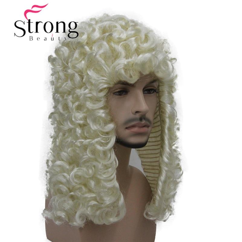 StrongBeauty синтетический парик судья барокко дворянин кудри исторические блондинка серый черный кудри исторические ...