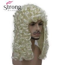 StrongBeauty peruka syntetyczna sędzia barokowy szlachcic loki historyczne blond szare czarne loki historyczne