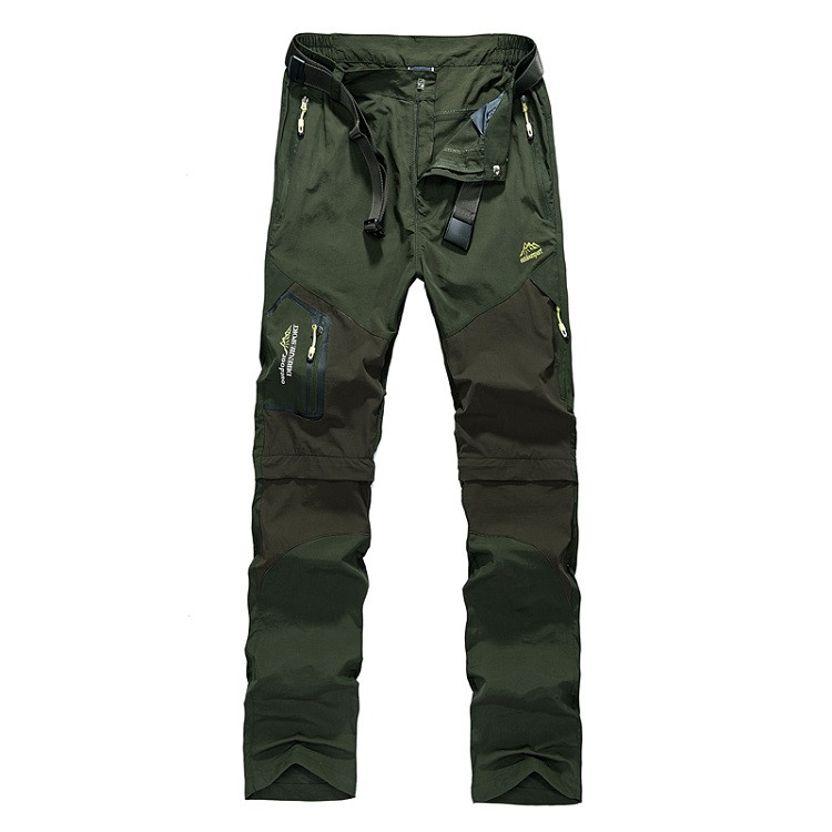 NaranjaSabor Men's Removable Quick Dry Casual Pants Men Thin Trousers Male Army Military Short Cargo Pant Men Brand Clothing 5XL