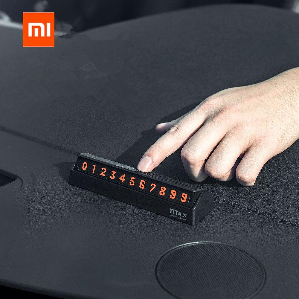 Xiaomi mijia Bcase TITA X Teilen Zu Bcase Flip Typ Auto Temperary Parkplatz Telefon Anzahl Karte Platte Mini Auto Dekoration