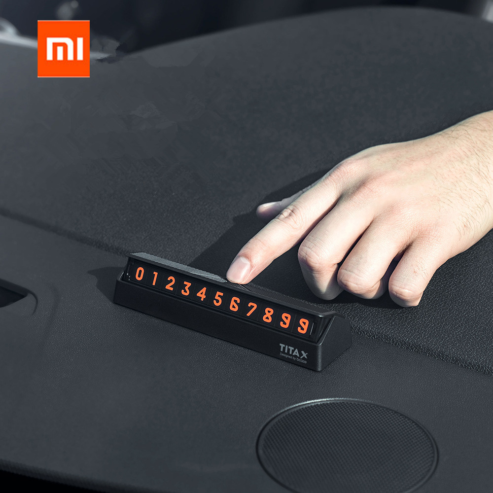 Xiaomi Mijia Bcase TITA  X Share To Bcase Flip Type Car Temperary Parking Phone Number Card Plate Mini Car Decoration