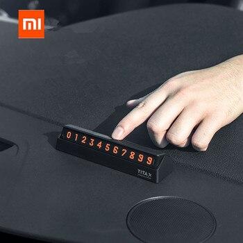xiaomi mijia Bcase TITA  X Share To Bcase Flip Type Car Temperary Parking Phone Number Card Plate Mini Car Decoration