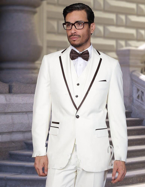 Pantalones recortar formal boda de encargo Trajes para hombres playa del novio  mejor hombre slim fit f93a0d7793dc