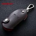Marcas HONEST 100% High-grade Couro Genuíno Homens Úteis Saco Keychain Chave Do Carro Pingente Cadeia Anel Titular jóias bcys-055
