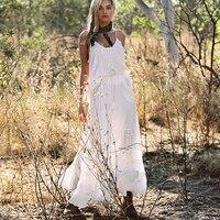 TEELYNN maxi dress white hanging rock lace summer dresses sexy sleeveless strap brand 2pcs women Dresses beach Gypsy Vestidos