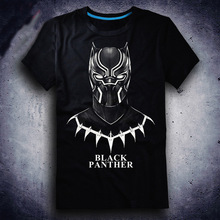 Black panther T-shirt Avengers 3 Captain America reflect light T Shirt Fashion Cotton Short Sleeve Tops Tees For Men