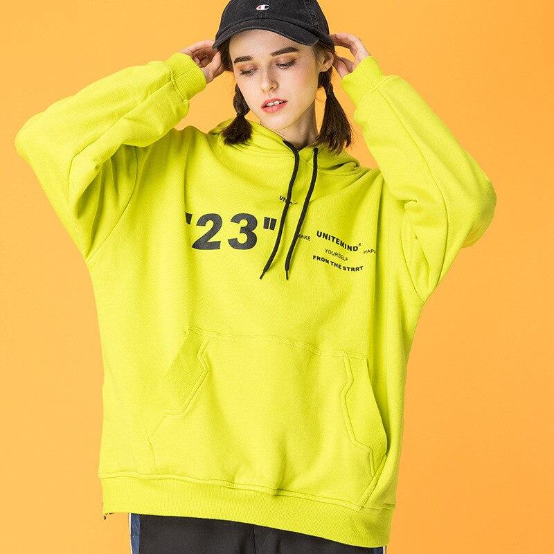 Japonais Harajuku jaune femmes Streetwear graphique à capuche fille urbaine Kawaii Hip Hop cordon sweat à capuche surdimensionné M-XXL