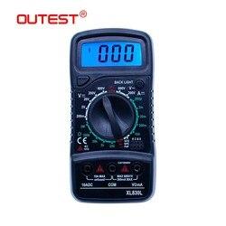 OUTEST Multímetro Digital Tensão Corrente Resistência Multimetre Multimetro hFE Transistor LCD Multímetro Medidor Digital