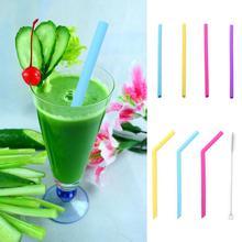 Многоразовый силикон Защита окружающей среды цветные соломинки для кормления ребенка посуда для напитков принадлежности