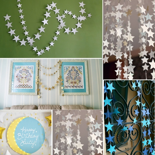 Aliexpresscom Buy 1pc 4M Pater Card Stars Shape Hanging Wall