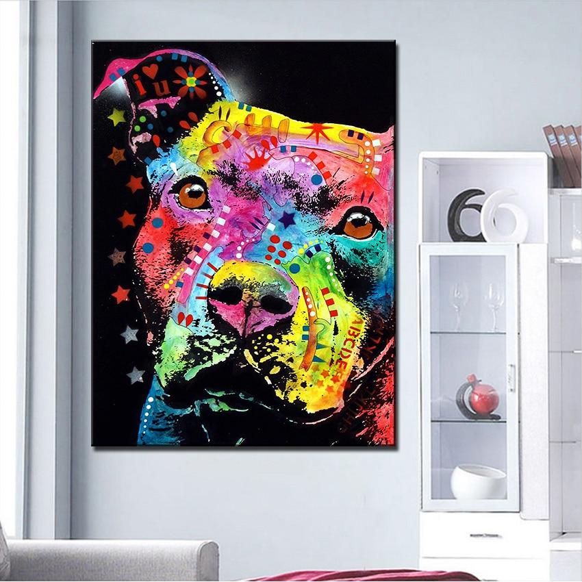 Pitbull Wall Art online get cheap pitbull painting -aliexpress | alibaba group