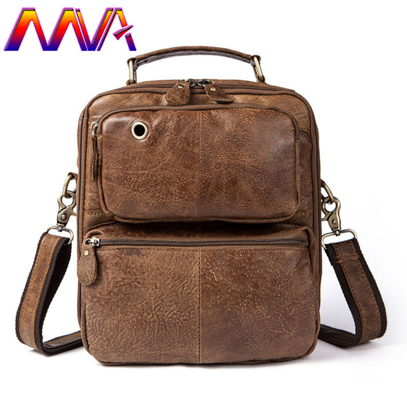 MVA Cow genuine leather shoulder bag of vintage men messenger bags men casual shoulder bag with quality cowhide crossbody bags mva best quality cowhide leather men backpack for fashion travelling bag with genuine leather men backpack or crossbody bags