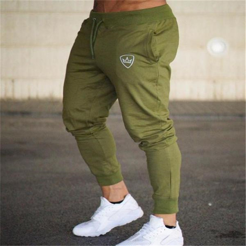 New Men Joggers Brand Male Trousers Casual Pants Sweatpants Jogger Dark grey Casual Elastic cotton GYMS Fitness Workout pants