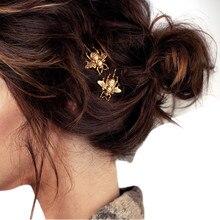 Женские модные стильные Изысканные Золотые шпильки с пчелами, 2 шт., элегантные заколки для волос, милые головные уборы, аксессуары для волос