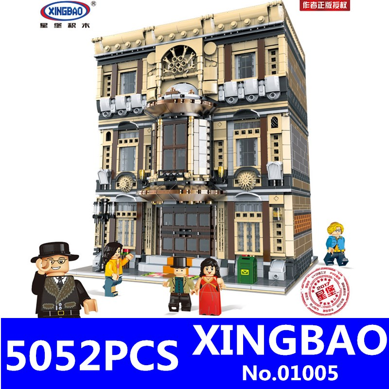 XingBao 01005 5052Pcs Genuine Creative MOC City Series The Maritime Museum Set Building Blocks Bricks Children Toys Model Gifts maritime safety