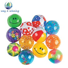 25pcs/Lot 13CM Colorful Water Pool Ocean Wave Ball Baby Funny Toys Eco-Friendly Plastic PVC Stress Ball Outdoor Fun Sport lamzac