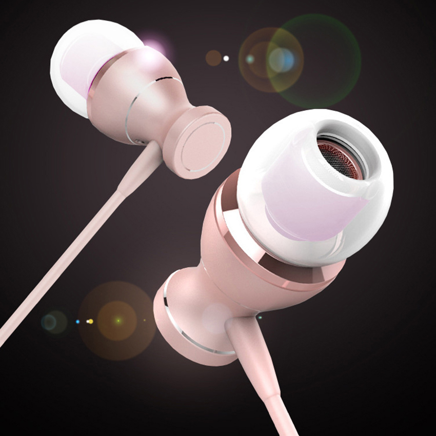 Aimitek In-Ear Earphones Sports Headsets In-line Control Magnetic Stereo Earbuds With MIC Handsfree For iPhone Mobile Phone MP3