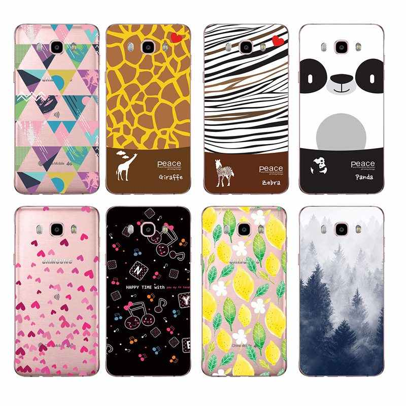 Scenery Panda lemon Geometric figure Soft TPU Phone Case For Samsung A5 J3 J5 J7 J1 J2 S6 S7 S8 S8plus note8 c5 c7 c9 S9 C273