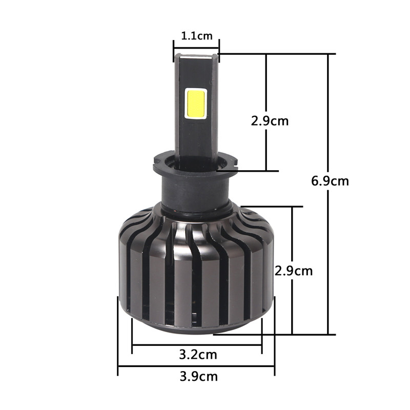 ФОТО 6000K Pure White Car Led Lights COB H3 Headlight Quality Lamplight For Car Replacement 60W 9 to 36 Volts Bulbs